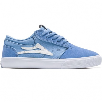 Lakai Griffin Kids Light Blue Suede Skate Shoe