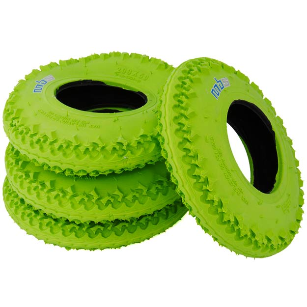 MBS Green T3 8in Mountainboard Tyre
