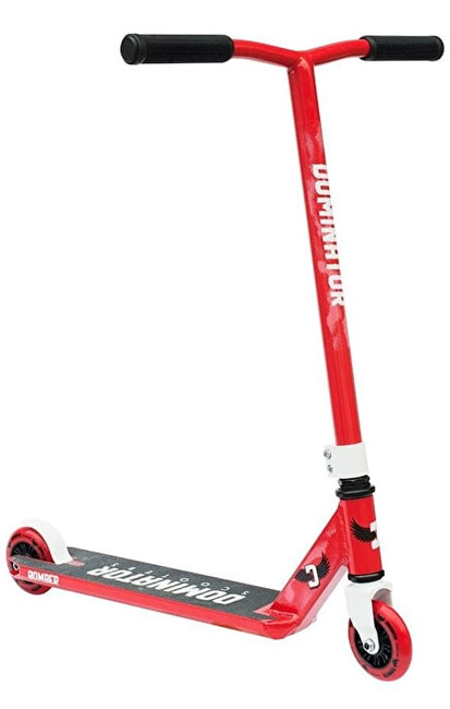 Dominator Bomber Junior Stunt Scooter in Red and White