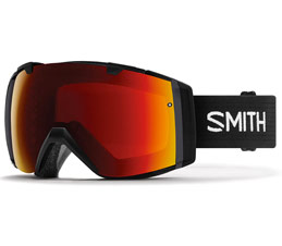Smith I/O Snowboard Goggles Black Chromapop Sun Red