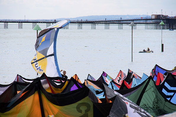 inflatable Kite Parking at Kitesurf British Championships