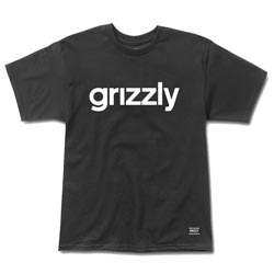 Grizzly Griptape Lowercase Logo Tee in Black