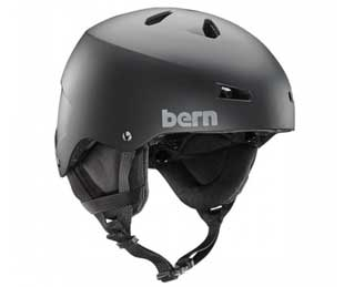 Bern Team Macon Snowboard Helmet in mate black