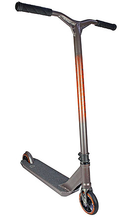 District HTS Titanium Grey Orange Pro Scooter