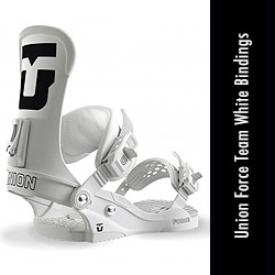 Union Force White Team Snowboard Bindings