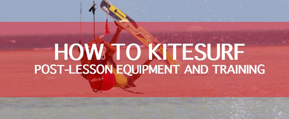 How to Kitesurf post lesson equipment training