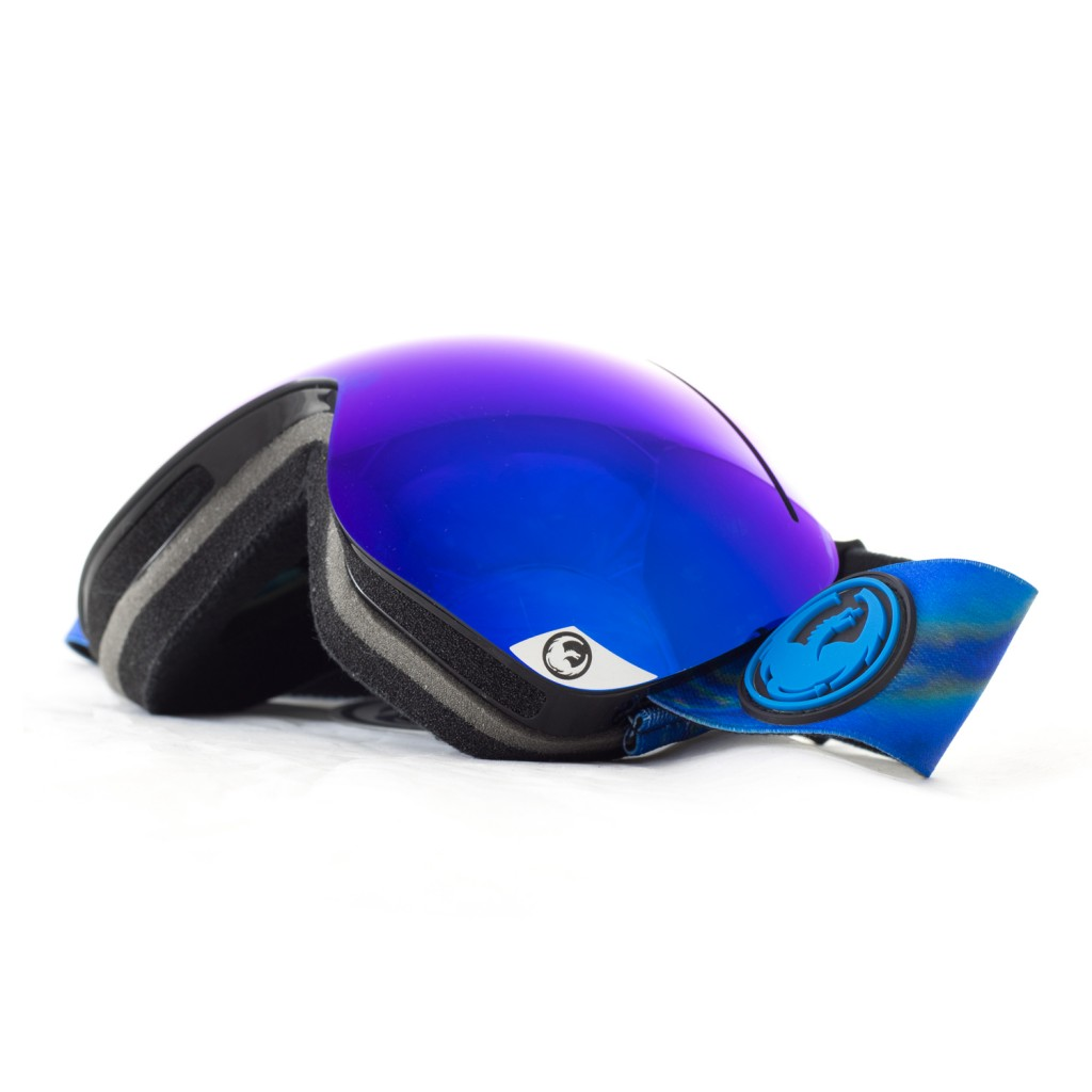 Dragon APX Jet Green Ion Snowboard Goggle side bottom