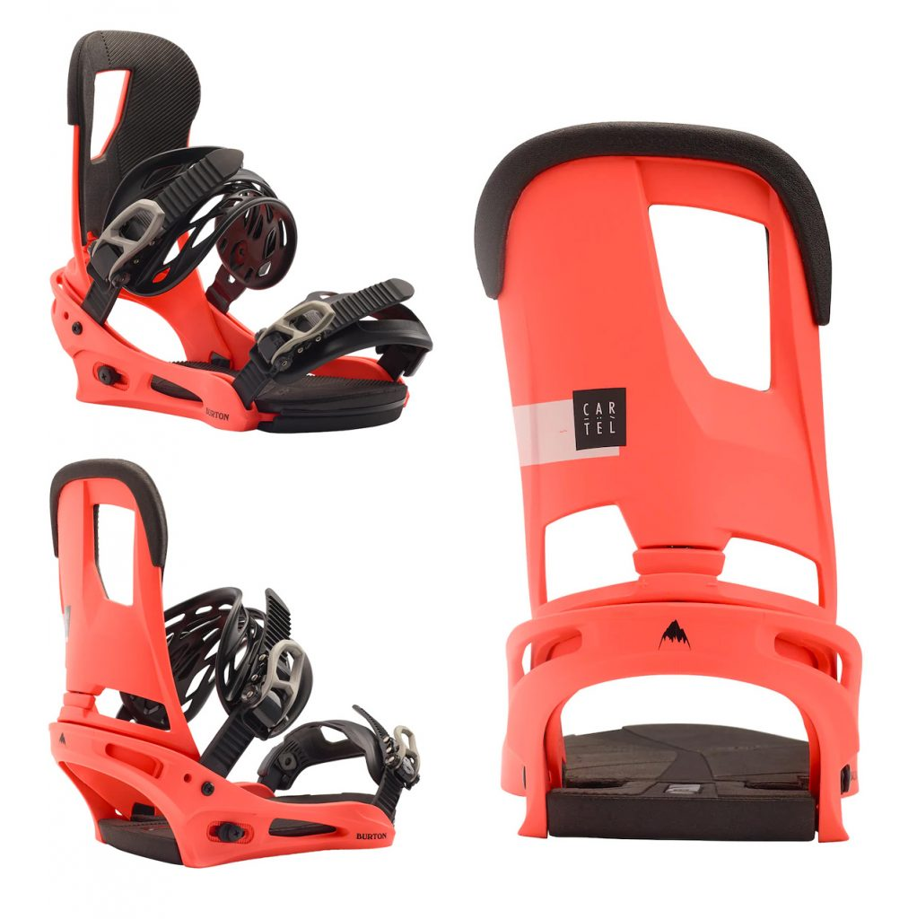burton cartel 2019 2020 snowboard bindings in red