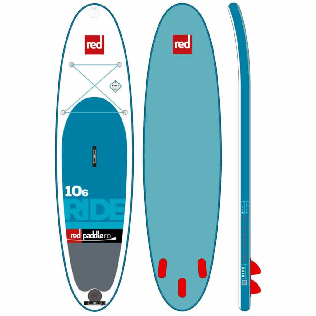 Red Paddle Co Amp Ride Ten Six Inflatable Sup W Free Paddle