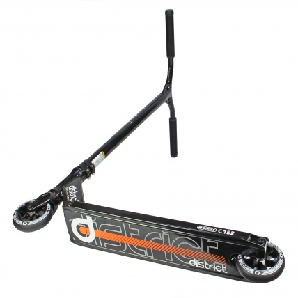 District C-Series C152 Complete in Black/ Orange deck graphic whole scooter