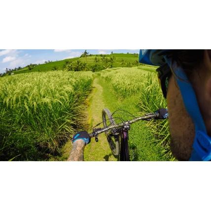 GoPro Helmet Side Mount on Bike Photo