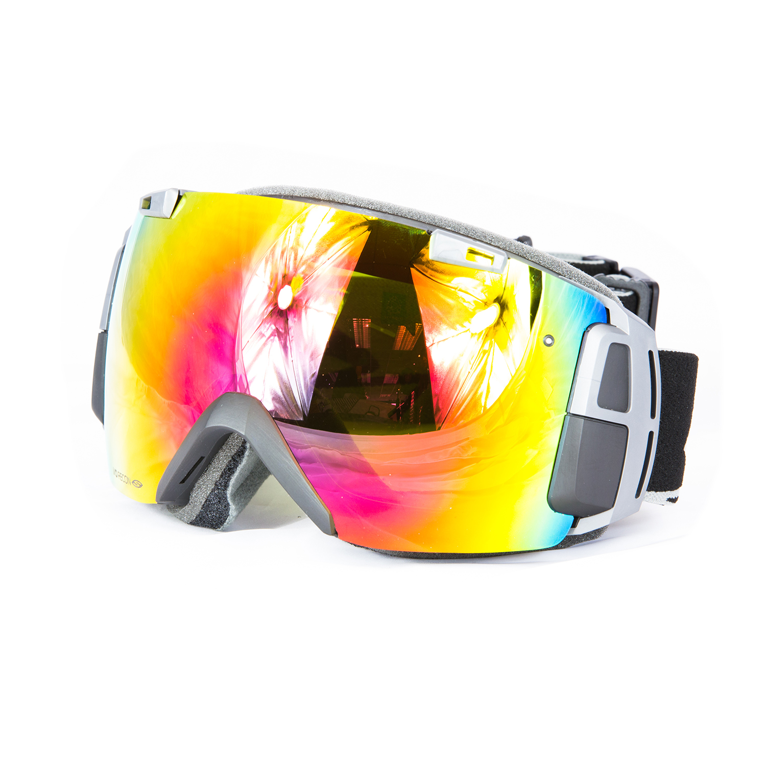 snowboard goggles  Smith I/O Recon Snow2 Black Red Sol-X Mir - Snow Goggles - GPS ...