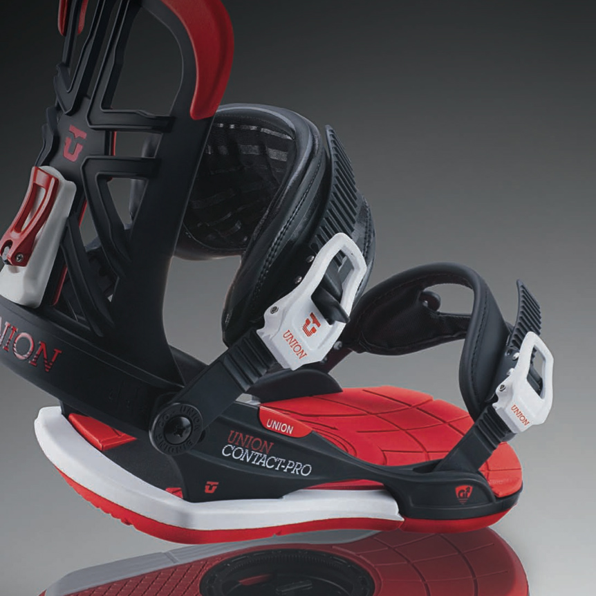 Contact Pro Black Red Snowboard Bindings 2014