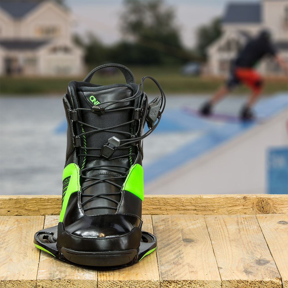 Ronix One Wakeboard Boots Black And Green 2014