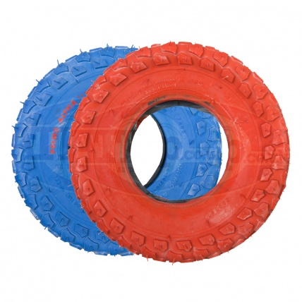 Red and Blue Primo Alpha Lite Tyres