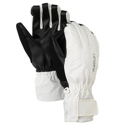 Burton Womens Snowboard Profile Under Gloves in White