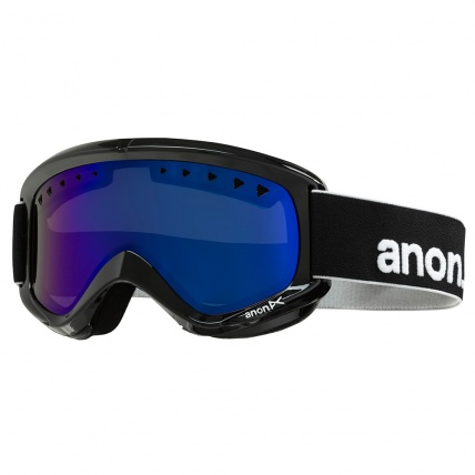 Anon Helix Snowboard Goggles Black with Blue Solex Lens