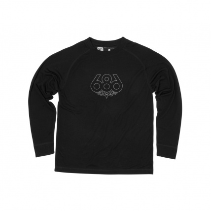 686 Direct Base Layer Snowboarding Thermal Top Black