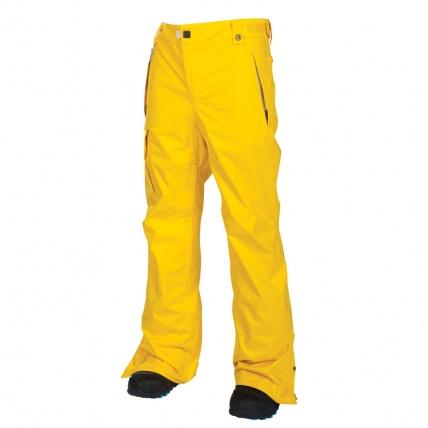 686 Mannual Data Snowboard Pants Yellow for 2014 Snow Season