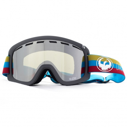 Dragon D1 Layer Mirror Ion Snowboard Goggles Front View