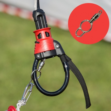 Ozone Flag Out Safety Ring with Swivel