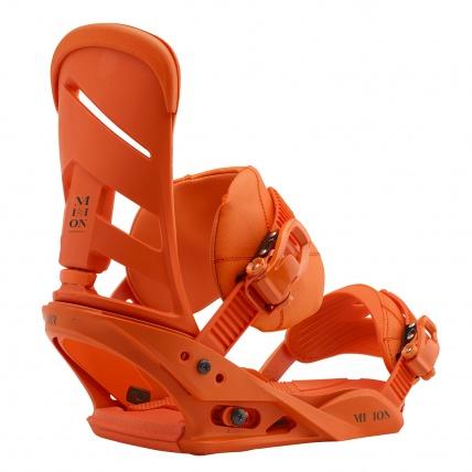 Burton Mission Reflex Snowboard Bindings Orange Sick Le back side