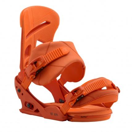 Burton Mission Reflex Snowboard Bindings Orange Sick Le front side
