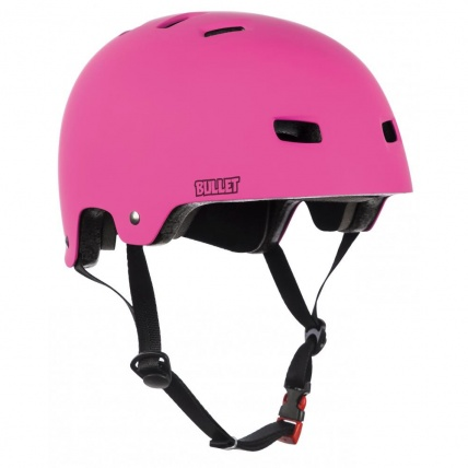 bullet grom junior helmet in pink
