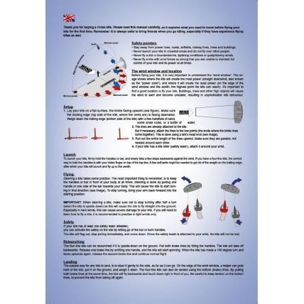 Cross Kites Air Rainbow 2 Line Powerkite how to guide manual