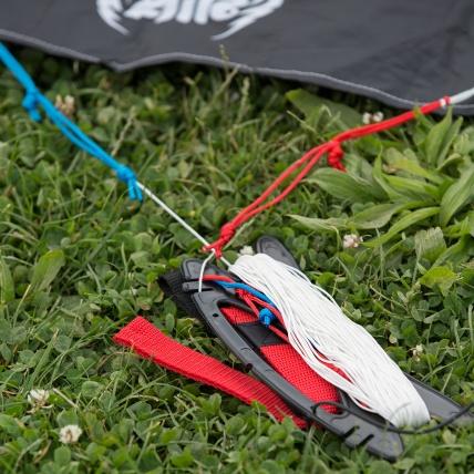 Cross Kites Air Rainbow 2 Line Powerkite line and handles view