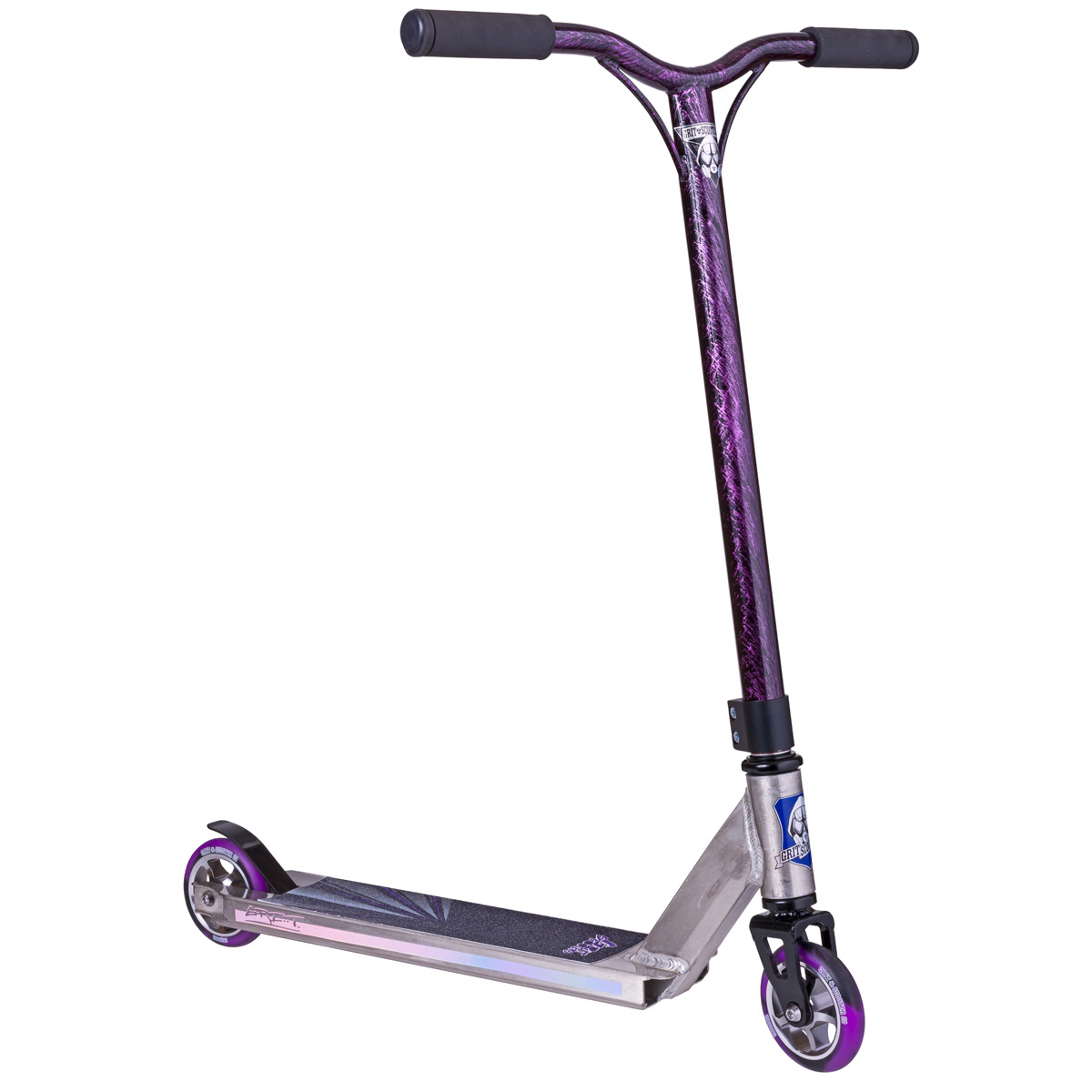 Grit Scooters Fluxx 2015 Raw Lazer Purple Scooters Pro