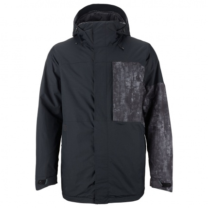 Burton Sutton Snowboard Jacket in Black Washed out 2015