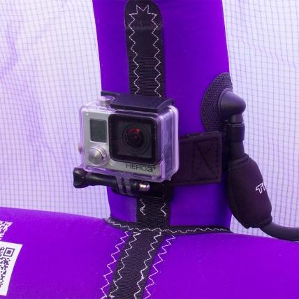 camrig gopro strut mount closeup on kite