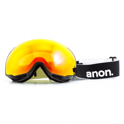 Anon M2 Black Snowboard Goggles Red SolX front view