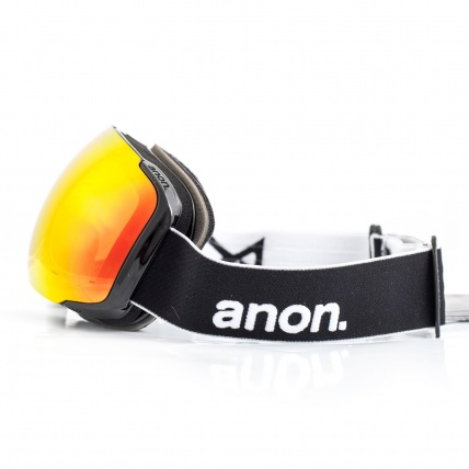 Anon M2 Black Snowboard Goggles Red SolX side view