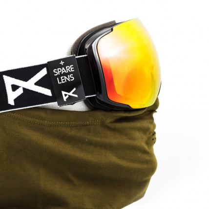 Anon M2 Black Snowboard Goggles Red SolX with MFI fask mask (not included)
