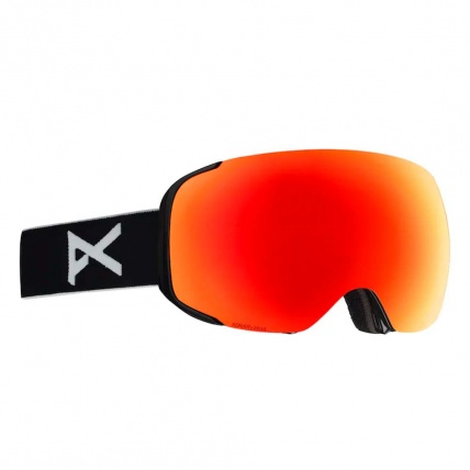 Anon M2 Black Red Sonar Zeiss Snowboard Goggles Left