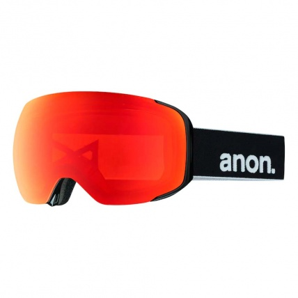 Anon M2 Black Red Sonar Zeiss Snowboard Goggles Right