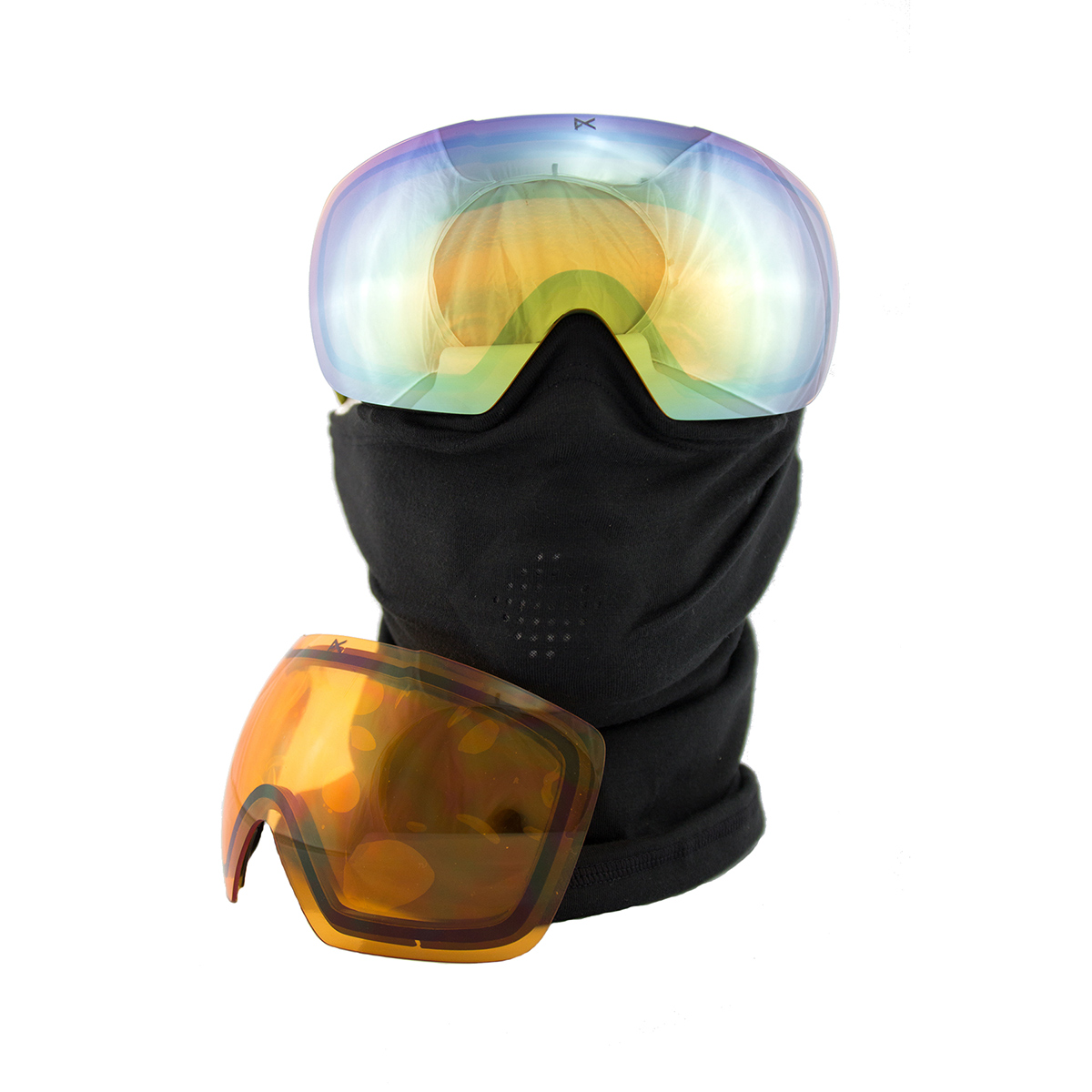 8b98d6f752d Anon MIG Snowboard Goggles with Facemask in Gold Chrome - Snow ...