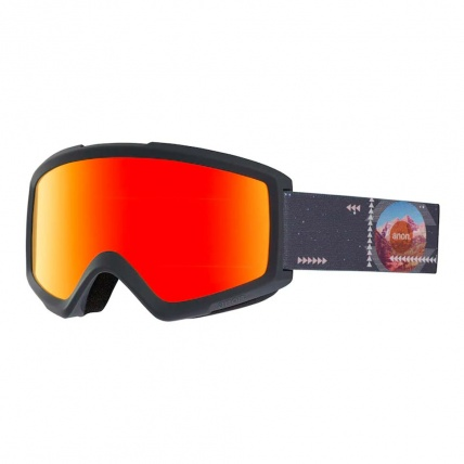 Anon Helix 2.0 Rush Red Solx Snow Goggle Left