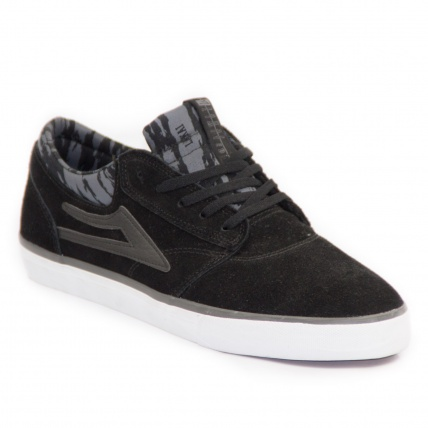 Lakai Griffin Black Grey Suede Skate Shoe