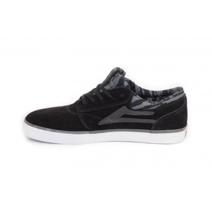 Inside vide of Lakai Griffin Skate Shoe Black Grey