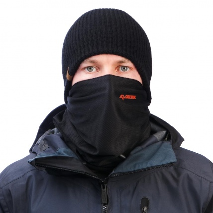 Celtic Scribble Black Face Mask Snowboard Ski
