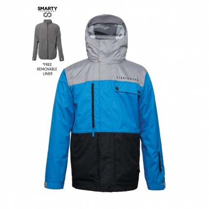 686 Authentic Smarty Form Jacket Blue Colour Block Snowboard