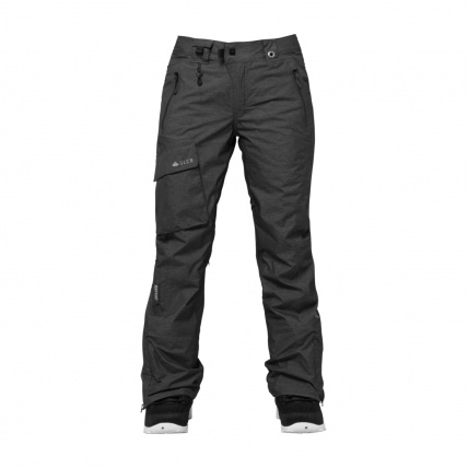 686 GLCR Trail Womens Snowboard Pants Black Heather Twill