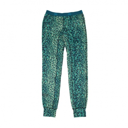 686 Womens Therma Base Layer Bottom Emerald Leopard