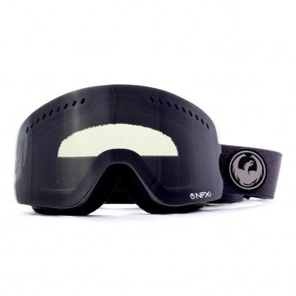 Dragon NFXs Melanoid Heather Dark Smoke Snowboard Goggles Front View