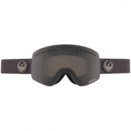 Dragon NFXs Melanoid Heather Dark Smoke Snowboard Goggles strap view