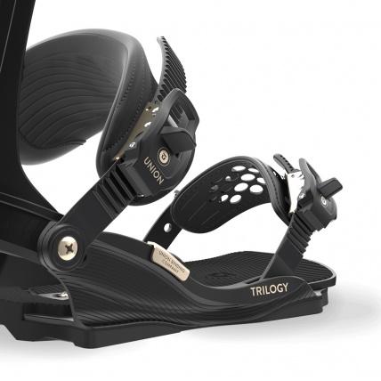 Union Trilogy Womens Snowboard Bindings Black buckles