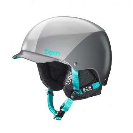 Bern Muse Womens Snowboard Helmet in Satin Grey Sunray